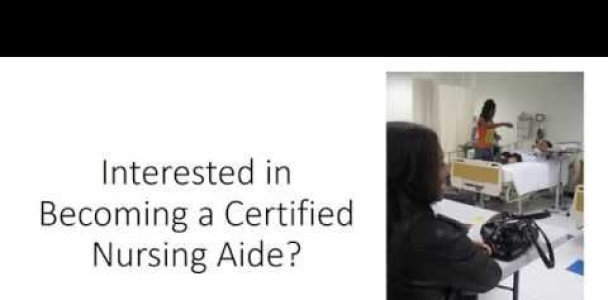 End Up Being a Qualified Nursing Aide